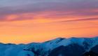 coucher de soleil dans la montagne