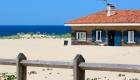 maison au bord de la plage dans les landes