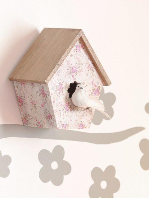 nichoir à oiseaux customisé