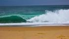 les vagues sur la plage