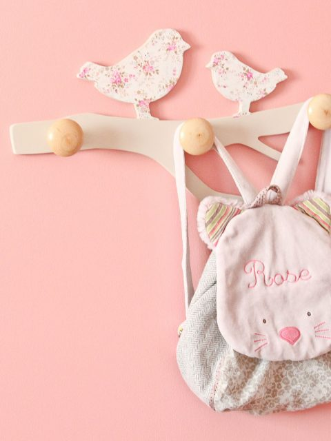 sac d'enfant rose