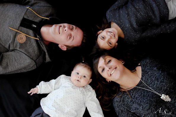 famille prise de haut