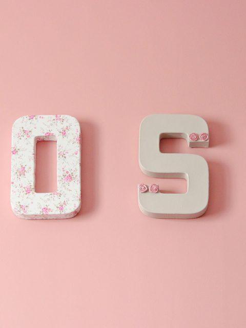 lettre prénom rose
