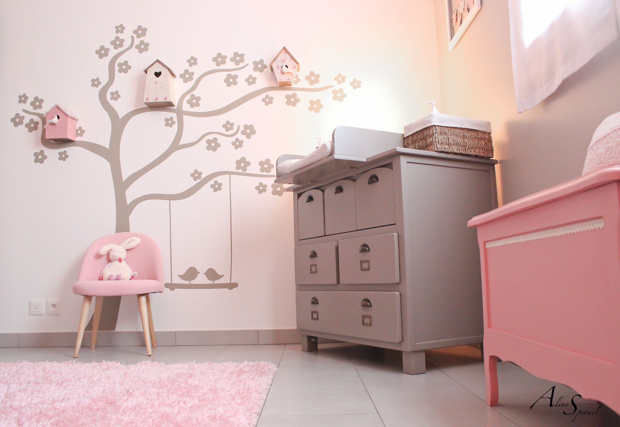 Stickers arbre chambre bebe photographe aline - Stickers repositionnables chambre bebe ...