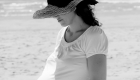 photo de grossesse à la plage