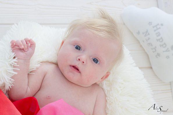 photographe nouveau né blond