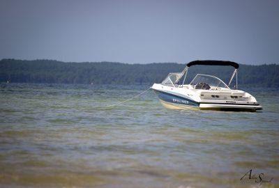 Petite journée en bateau sur le lac de Biscarrosse