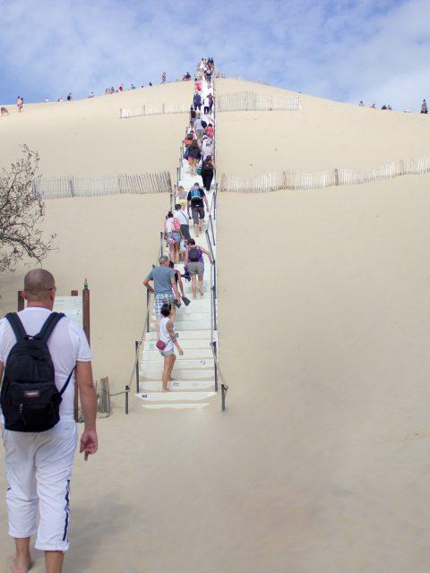 monter les marches dune
