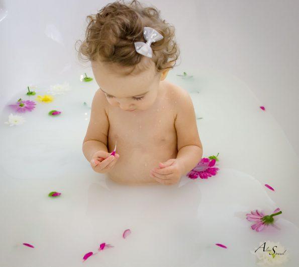 pétale de fleurs dans un bain