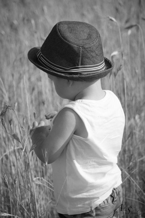 petit garçon dans les blés
