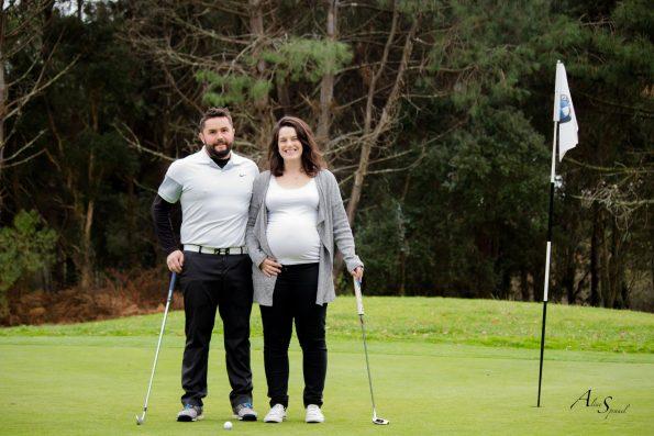 golf couple grossesse