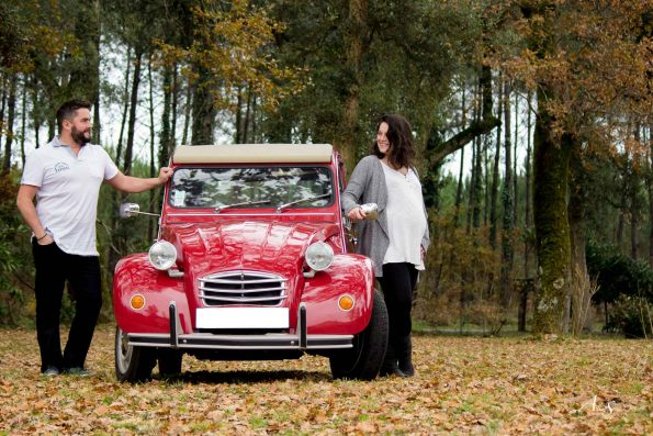 shooting couple foret voiture