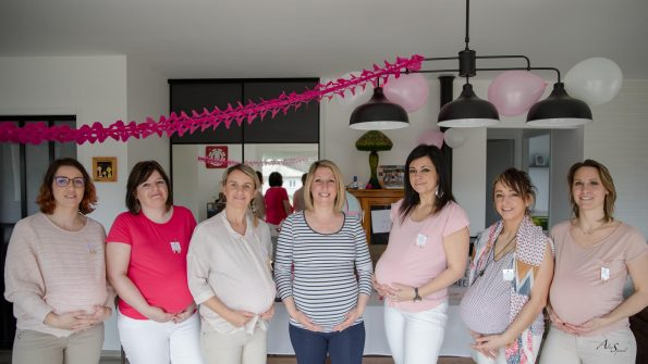 photo fille baby shower