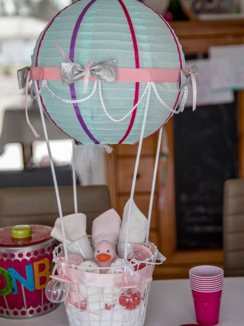 cadeau mongolfiere baby shower