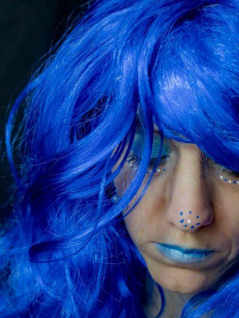 déguisement bleu
