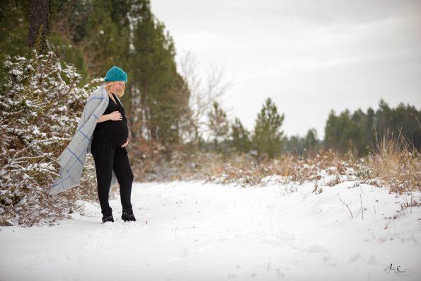 grossesse sous la neige