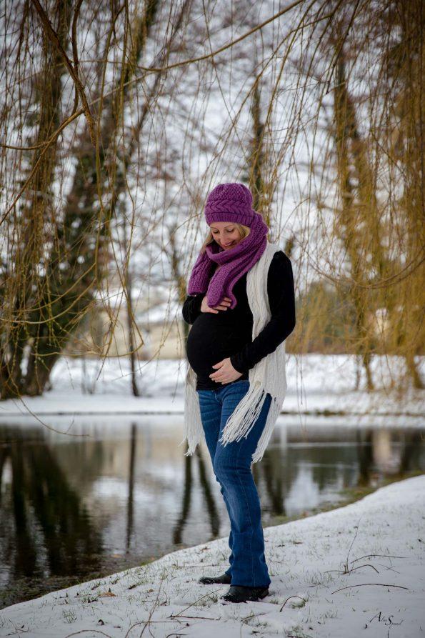 grossesse bonnet neige