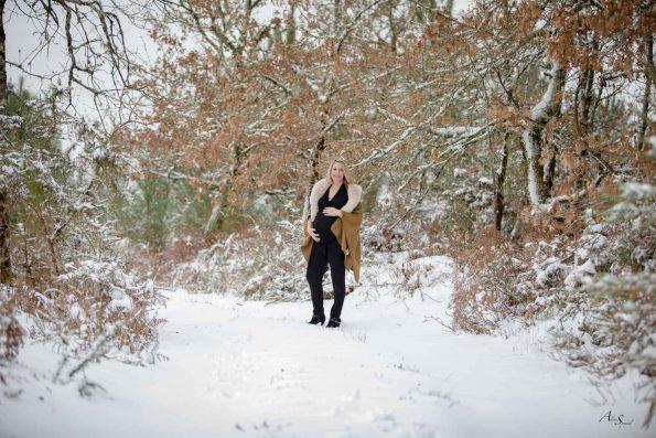 future maman foret hiver