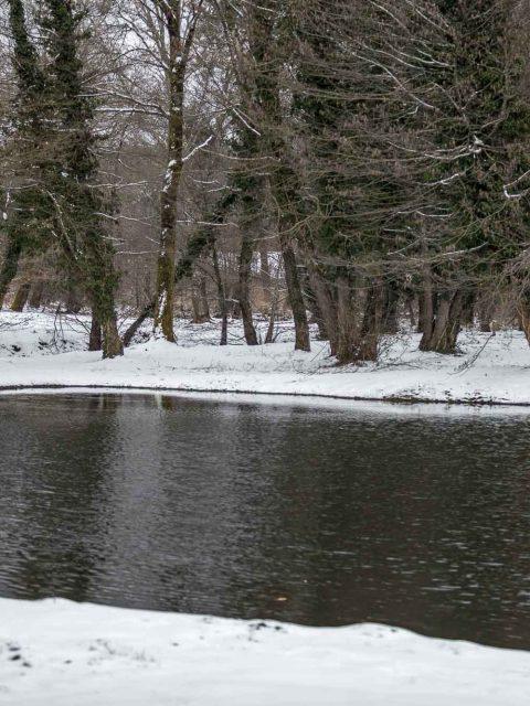 lac sous la neige