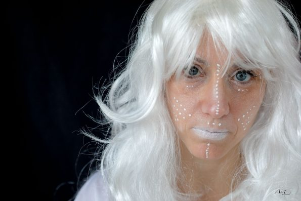 portrait blanc maquillage