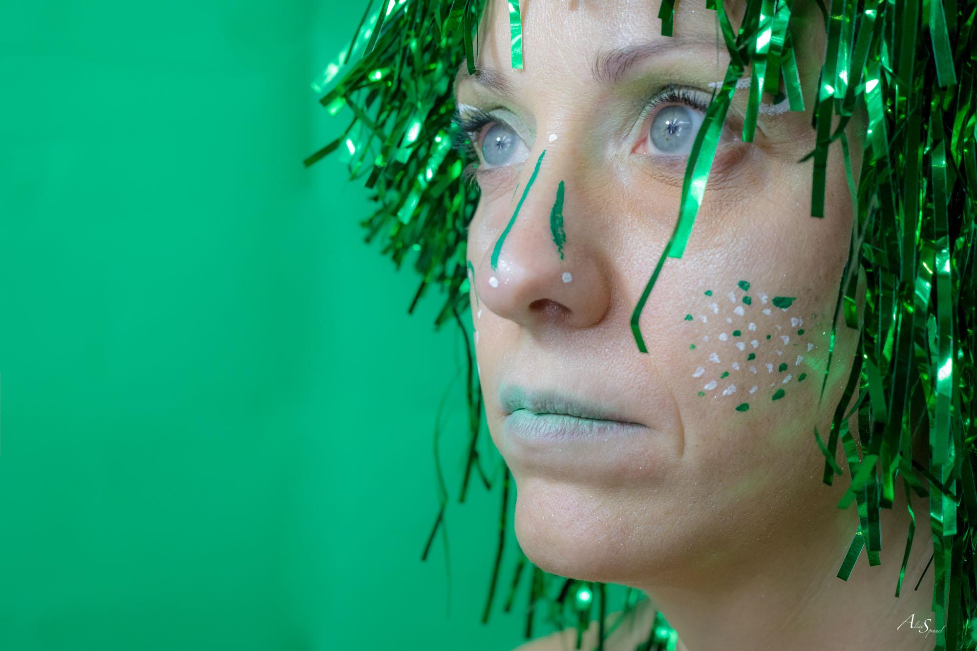 maquillage vert