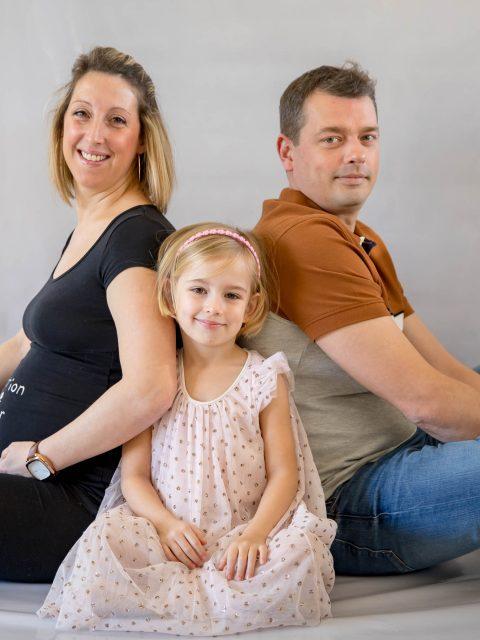 famille de dos