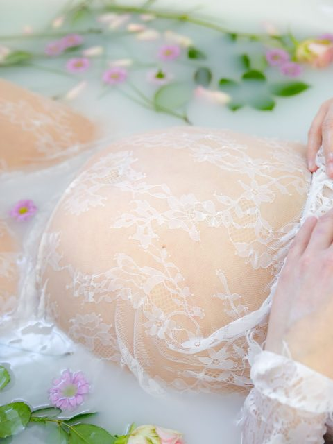 ventre grossesse milk bath