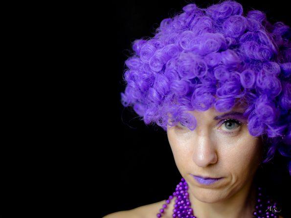 portrait violet