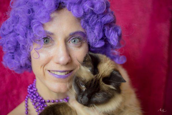 déguisement violet chat