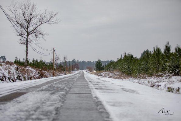 route sous la neige