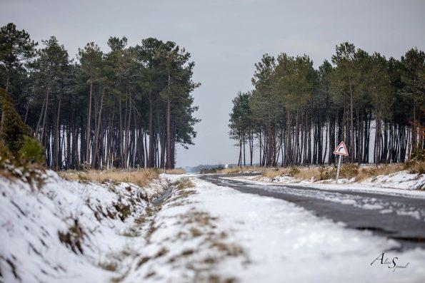 route en hiver