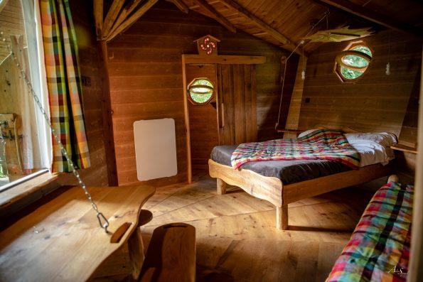 intérieur cabane bois