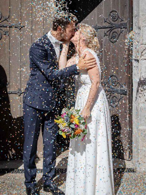 mariage confetti