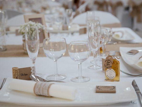 decoration de table champetre