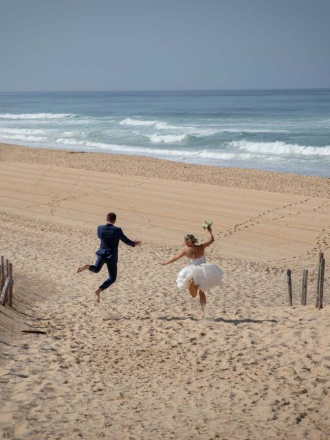 photo originale mariage plage