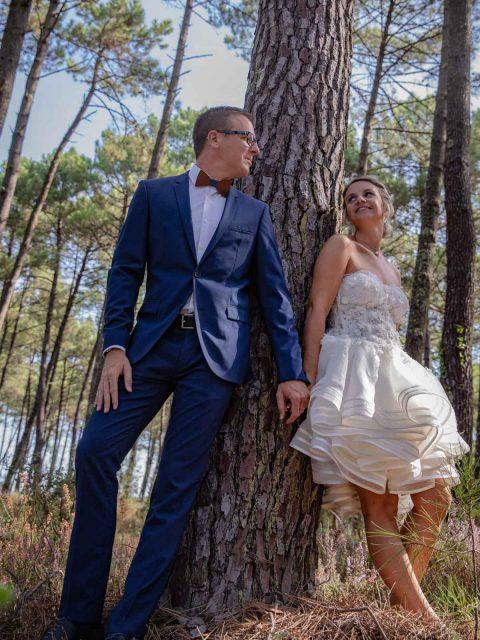 mariage dans les pins