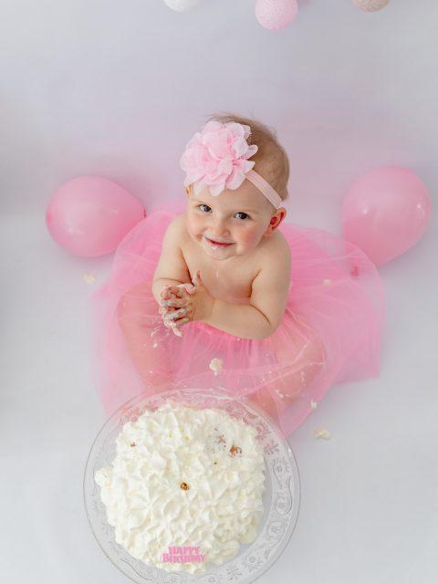smash cake fille
