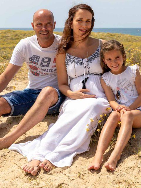photo famille plage