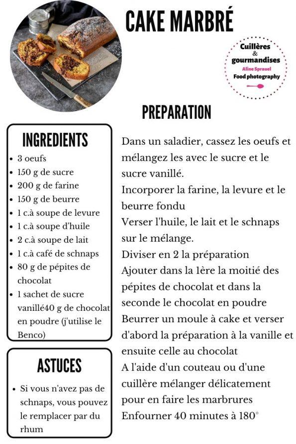recette cake marbré aux pépites de chocolat