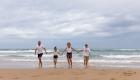 seance famille a la plage
