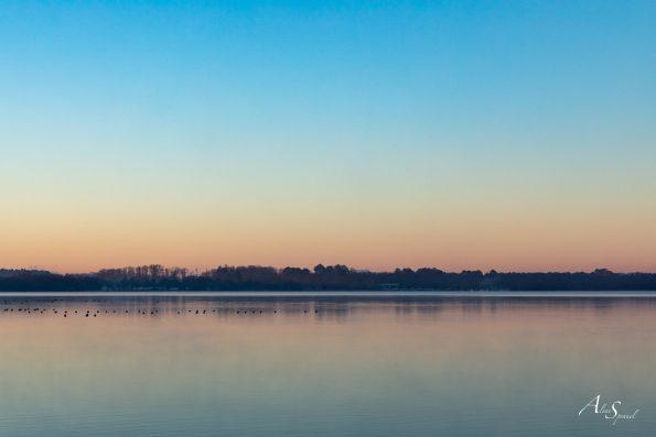 lac azur paysage
