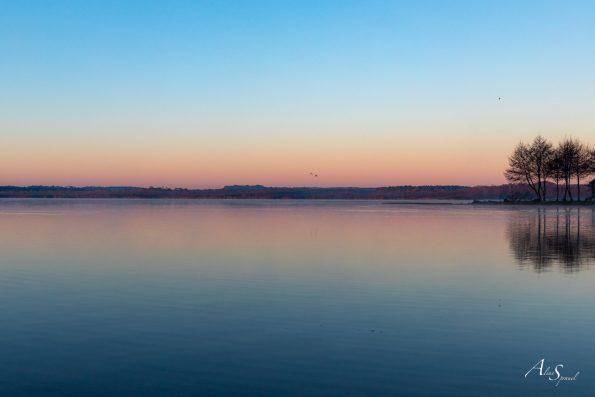 landes lac azur paysage
