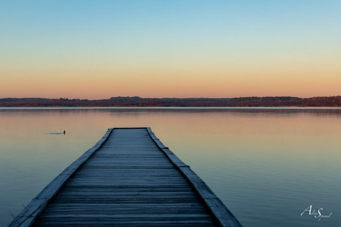ponton azur lever de soleil