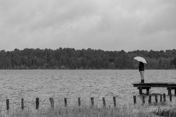 parapluie lac