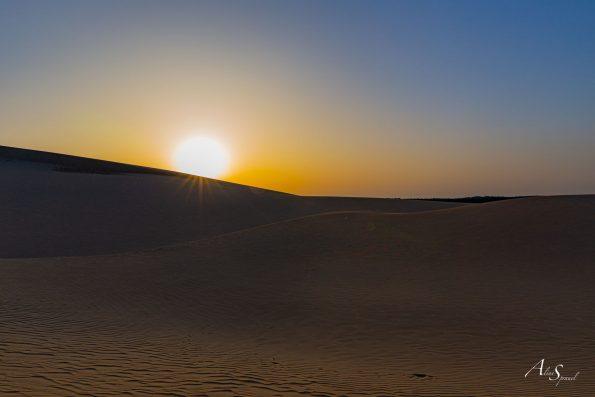lever de soleil sable dune du pilat