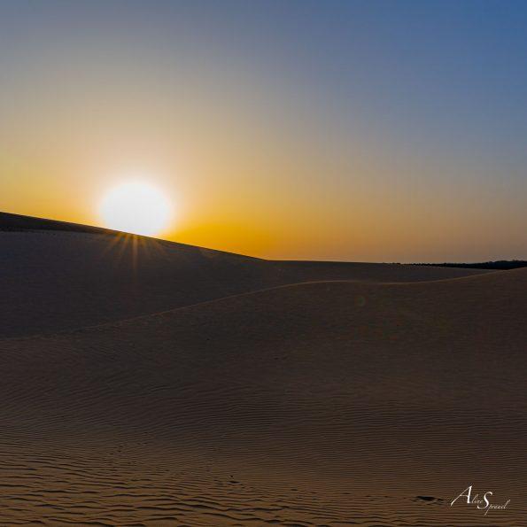 lever soleil sable dune
