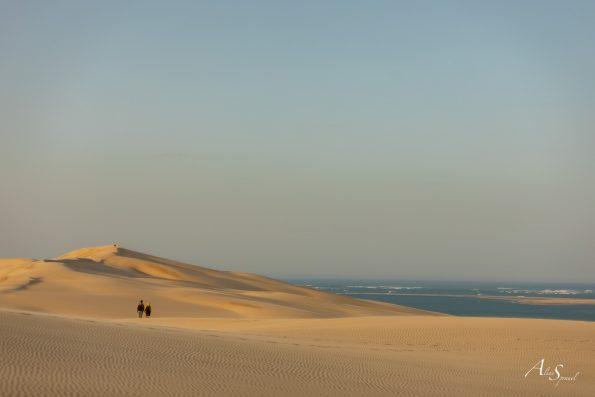 marcheurs sur la dune du pilat