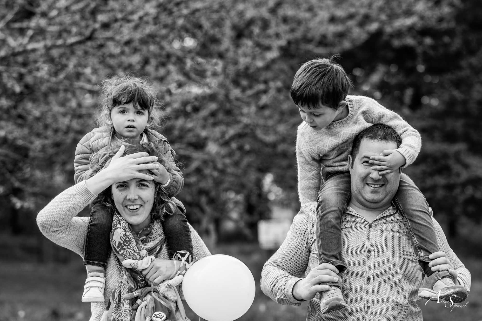 photo de famille rigolote