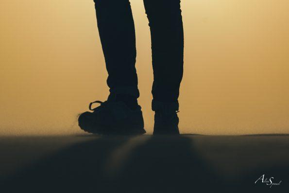 silhouette pieds dune