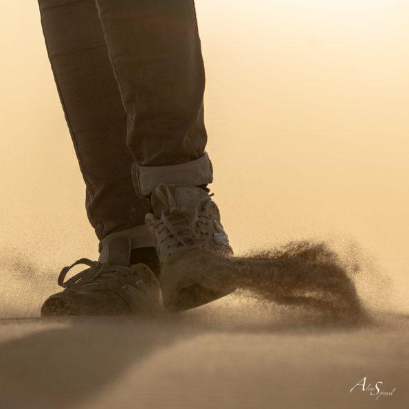silhouette pieds dune du pilat